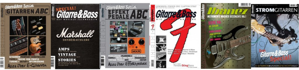Alle Gitarre & Bass Sonderhefte