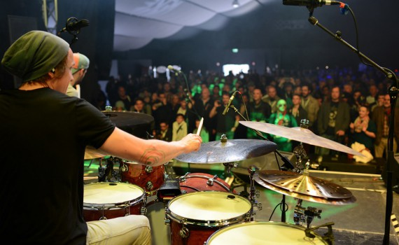 Drummer in Aktion