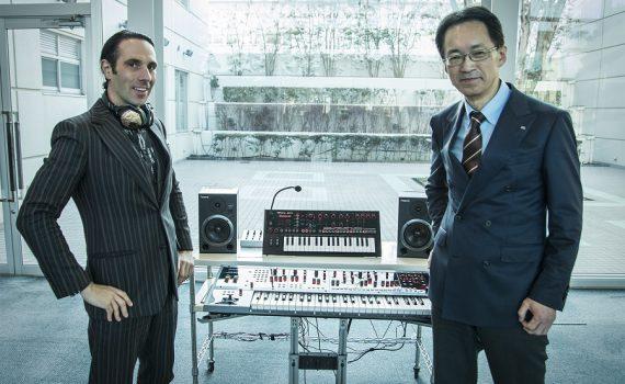 Val Kolton, Gründer von V-MODA, und Jun-ichi Miki, Präsident