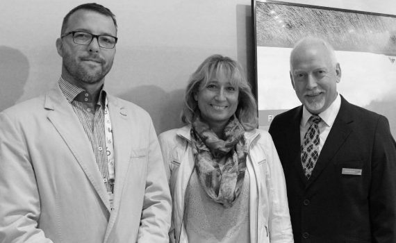 Jaroslaw Kierkowski, Director L P Systems Agnieszka Pyrich, Owner L P Systems Charles Rowden, Sales Director Europe, Lawo