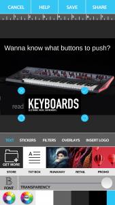 Die fast fertige Banner Ad für das Magazin Keyboards