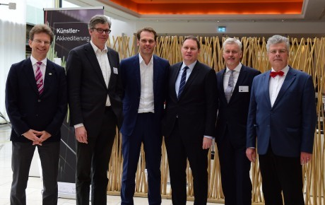 von links nach rechts: Gerald Mertens, Dr. Tilo Gerlach, Dr. Florian Drücke, Dr. Carsten Brosda, Guido Evers, Prof. Christian Höppner; Foto: Christoph Petras