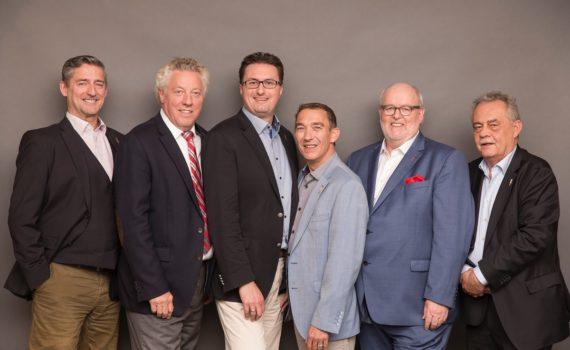 Der SOMM-Vorstand: Michael Stöver, Joachim Stock, Markus Sailer, François Rousies, Thilo M. Kramny und Matthias Meyer (v.l.)