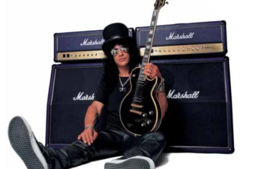 Slash mit Gitarre
