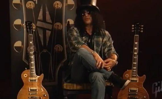 Slash mit Gibson Gitarre