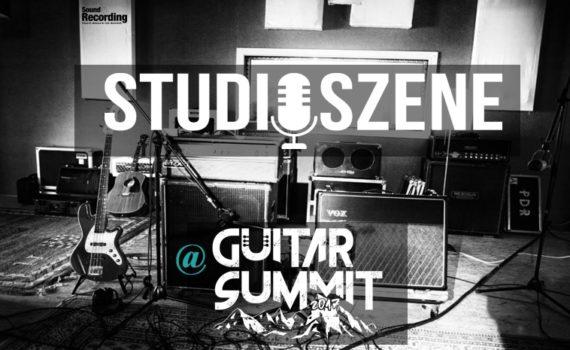 Studioszene auf dem Guitar Summit