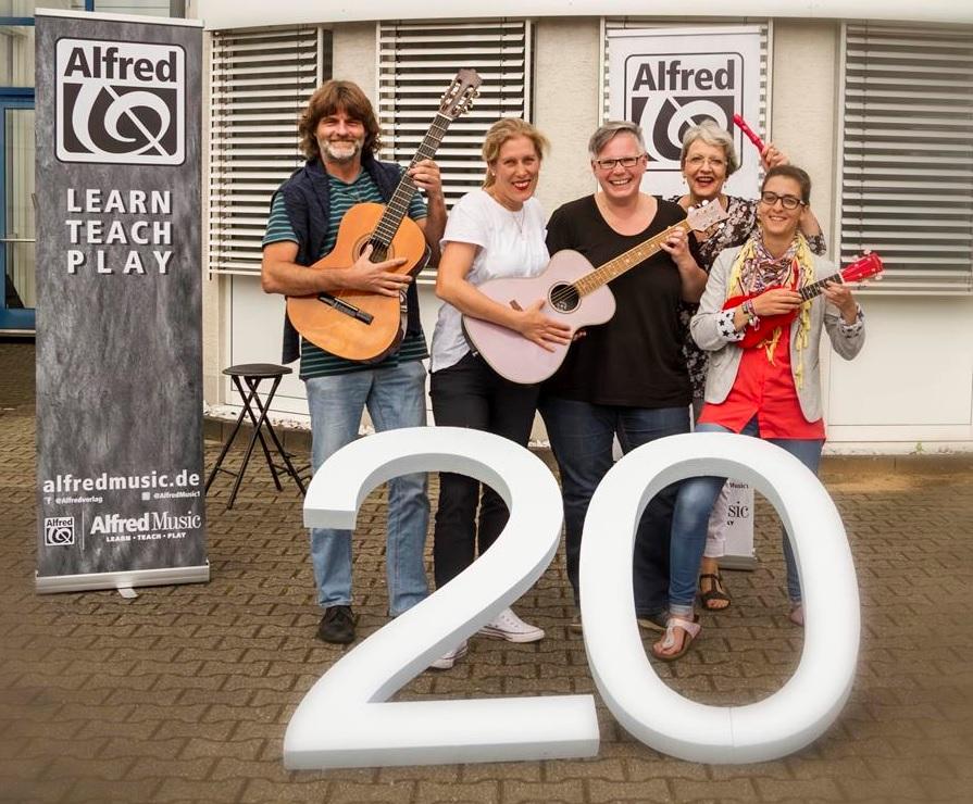 Alfred Music Team Germany (v.l.n.r): Thomas Petzold, Patricia Schwan, Gudrun Trautner, Renate Gurrey, Ilka Peter