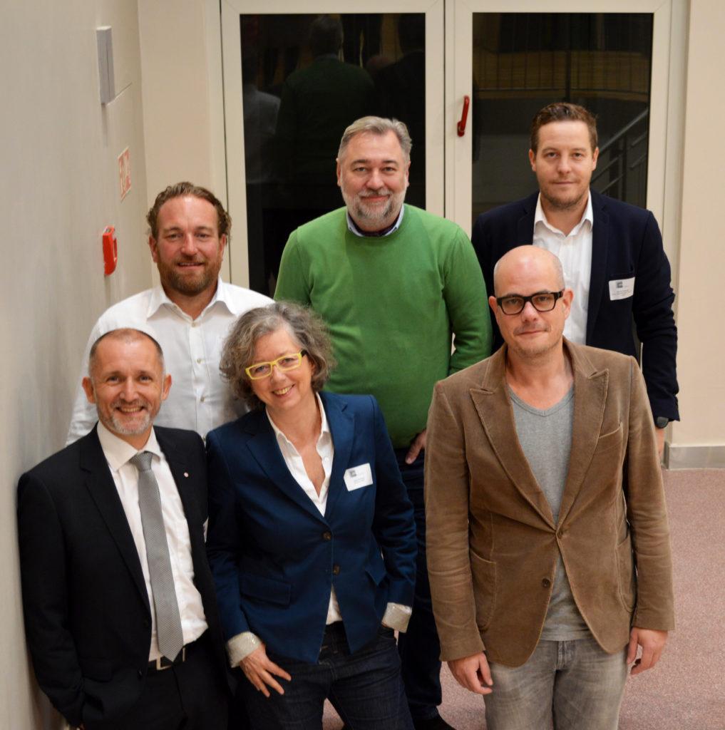 Die Jury des FAMAB Award 2017 für die Kategorie Best Catering: Best Catering Matthias Thoben, Georg Broich, Henrik Bollmann, Christian de Clerque, Jutta Kirberg Moderation: Jan Kalbfleisch