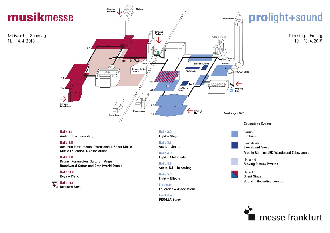 Musikmesse Prolight + Sound Hallenplan