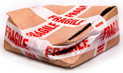 Beschädigtes Paket