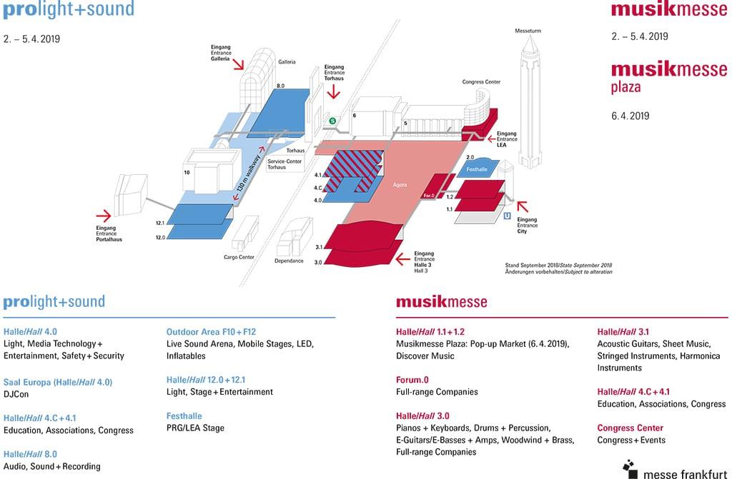 Hallenplan Musikmesse