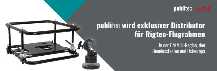 Infobanner: publitec ist Exklusivdistributor für Rigtec