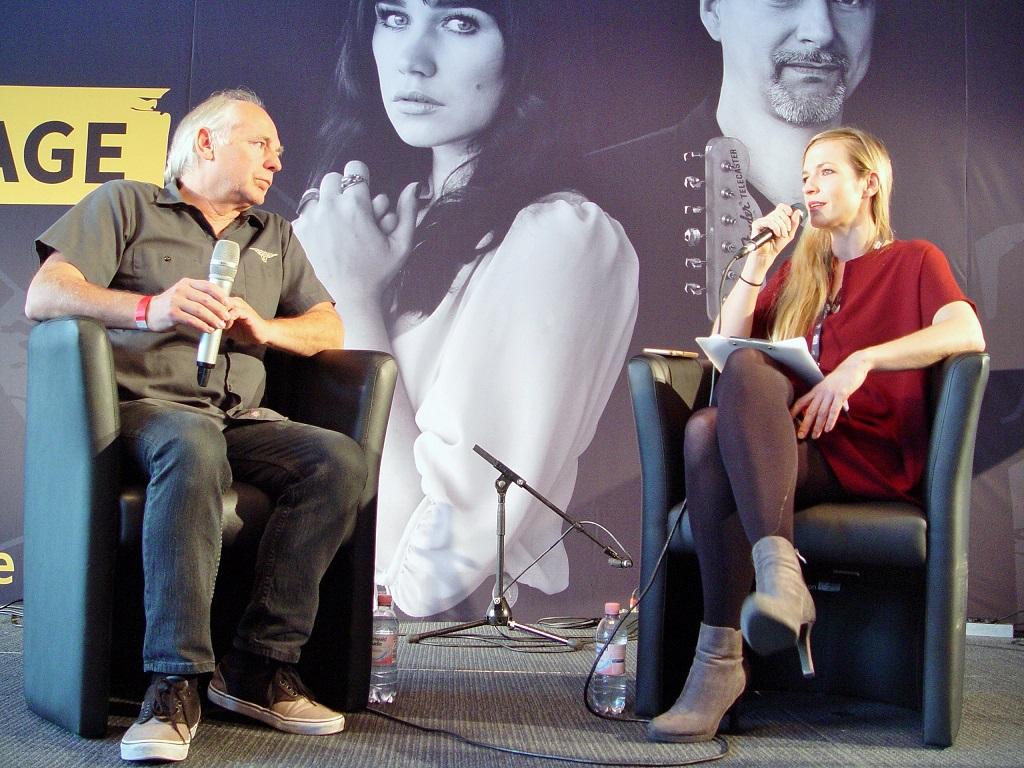 Thomas Weilbier im Interview mit der I'M SOUND Markenmanagerin Janina Klabes auf der I'M SOUND Stage beim Guitar Summit in Mannheim