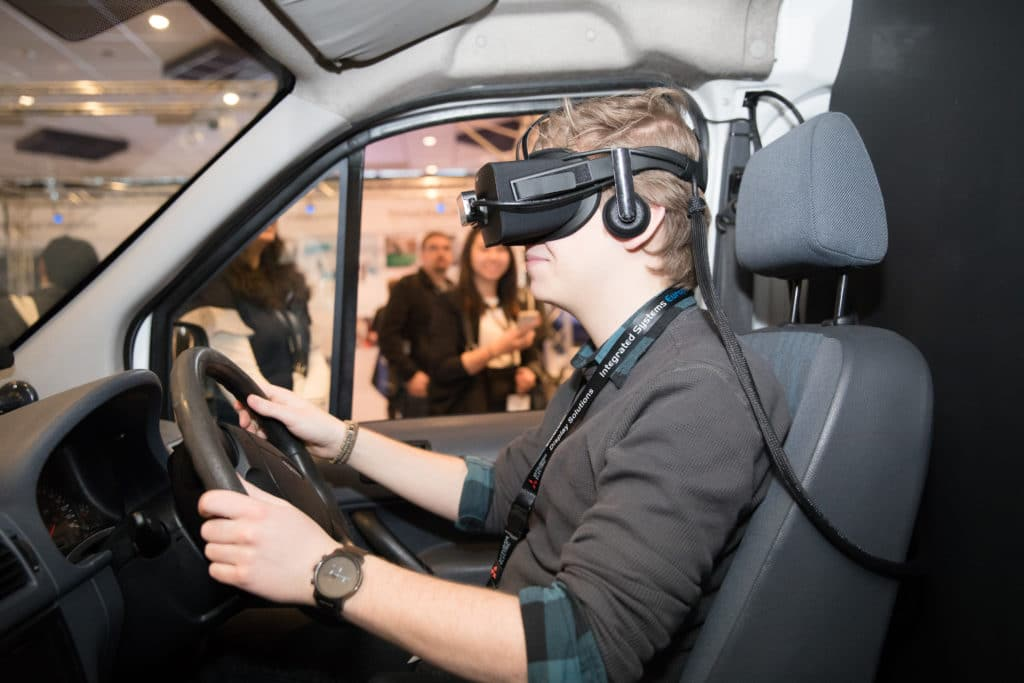 VR Fahrsimulation @ ISE 2018