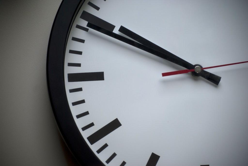 Uhr-Zeit-Uhrzeit-Zeiterfassung