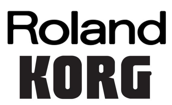 Roland und Korg Logo