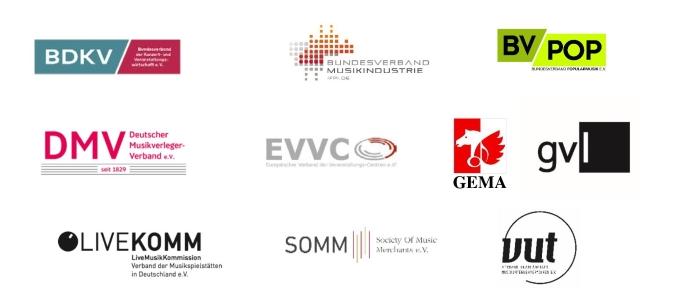 Logos der Musikwirtschaft