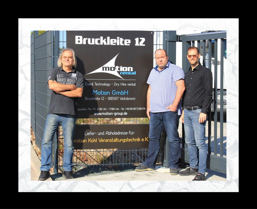 """Uwe """"HELi"""" Heinrich (l.) und Christian Kohl (m.) & Stefan Schernau (r.) von Motion Group"""