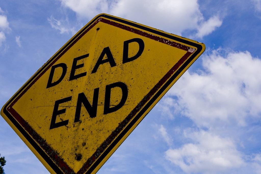 Dead End Sackgasse Perspektivlos